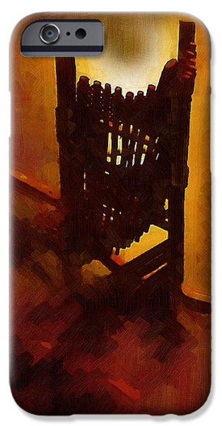 Furniture iPhone Cases - The Devils Rocking Chair iPhone Case by RC deWinter