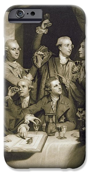 Archaeologists iPhone Cases - The Dilettanti Society, Engraved By William Say, 1812 Mezzotint On Paper iPhone Case by Sir Joshua Reynolds