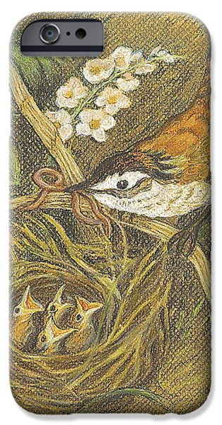 Baby Bird Pastels iPhone Cases - The Dinner Bill iPhone Case by Carol Wisniewski
