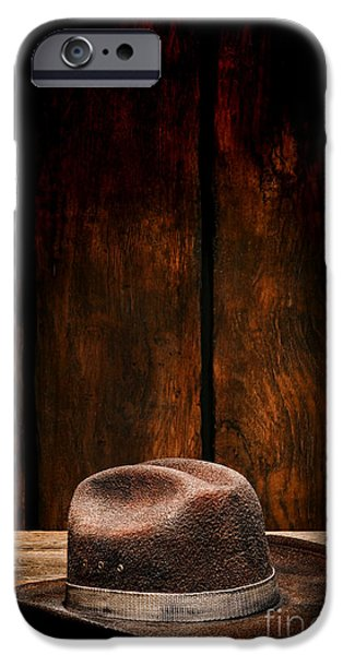 Dirty iPhone Cases - The Dirty Brown Hat iPhone Case by Olivier Le Queinec