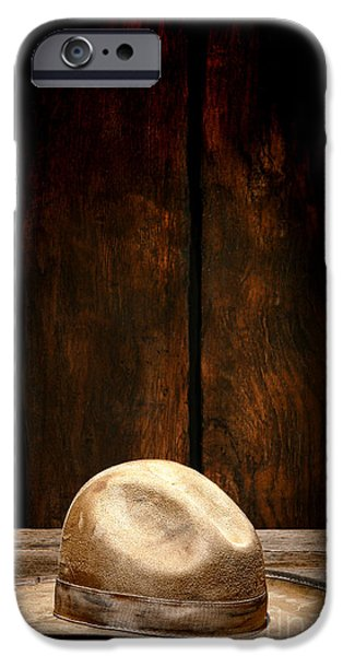 Dirty iPhone Cases - The Dirty Tan Hat iPhone Case by Olivier Le Queinec