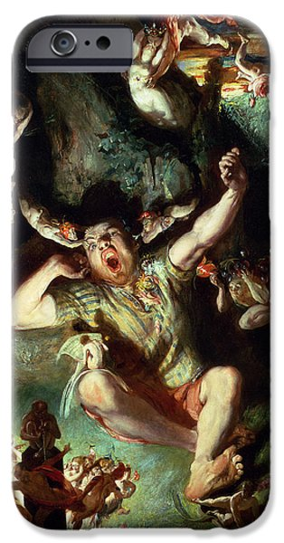 Midsummer iPhone Cases - The Disenchantment of Bottom iPhone Case by Daniel Maclise