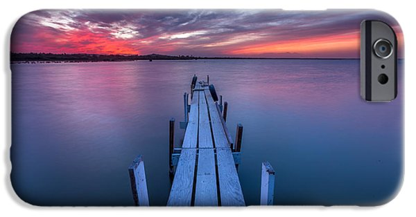 Simplistic iPhone Cases - The Dock I iPhone Case by Peter Tellone