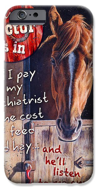 Equestrian iPhone Cases - The Doctor is In iPhone Case by JQ Licensing