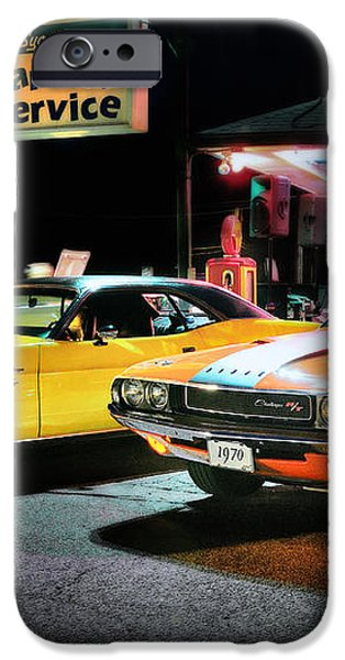 The Dodge Boys - Cruise Night at the Sycamore iPhone Case by Thomas Schoeller