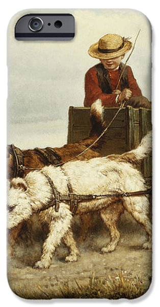 The Dog Cart iPhone Case by Henriette Ronner-Knip