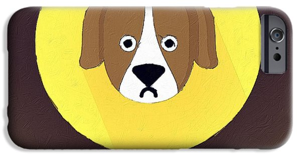 Puppy Digital iPhone Cases - The Dog Cute Portrait iPhone Case by Florian Rodarte