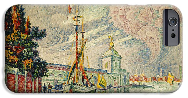 Neo iPhone Cases - The Dogana iPhone Case by Paul Signac