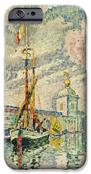 The Dogana iPhone Case by Paul Signac