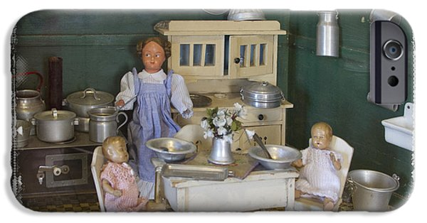 Interior Scene iPhone Cases - The Dollhouse From Other Times iPhone Case by Helga Koehrer-Wagner