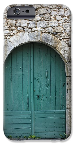 South West France iPhone Cases - The Door in the Wall iPhone Case by Nomad Art And  Design