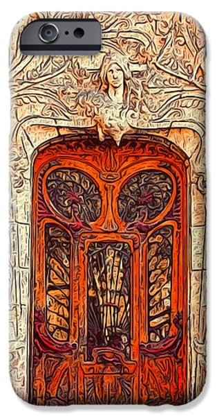 French Open iPhone Cases - The Door iPhone Case by Jack Zulli