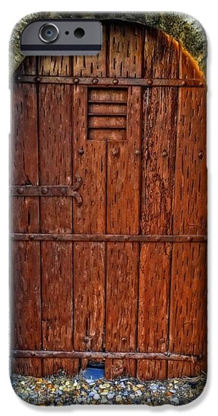 The Door - Vintage Art By Sharon Cummings iPhone Case by Sharon Cummings