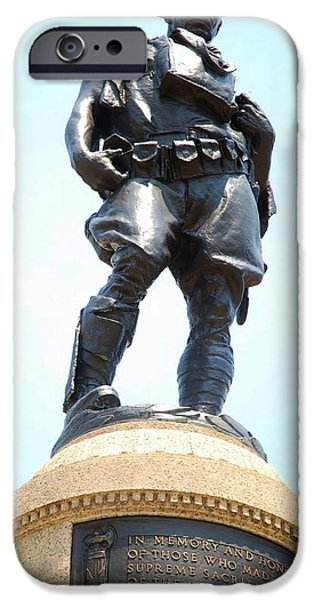 Wwi iPhone Cases - The Doughboy iPhone Case by Karen Burger
