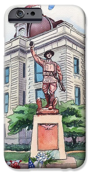 The Doughboy Statue iPhone Case by Katherine Miller