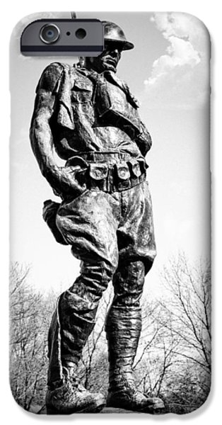 The Doughboy - Tribute to the American Expeditionary Forces of World War 1 iPhone Case by Gary Heller