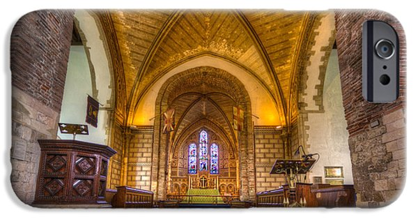 England iPhone Cases - The Dover Church of St. Mary in Castro iPhone Case by Tim Stanley