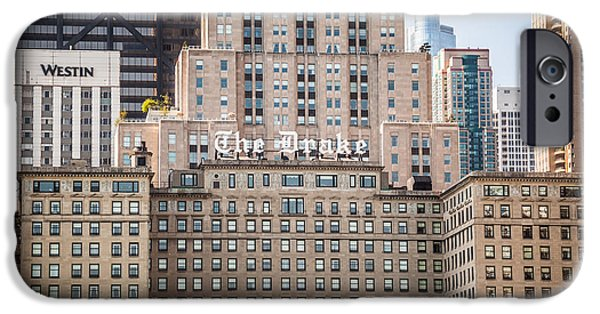 Editorial iPhone Cases - The Drake Hotel in Downtown Chicago iPhone Case by Paul Velgos