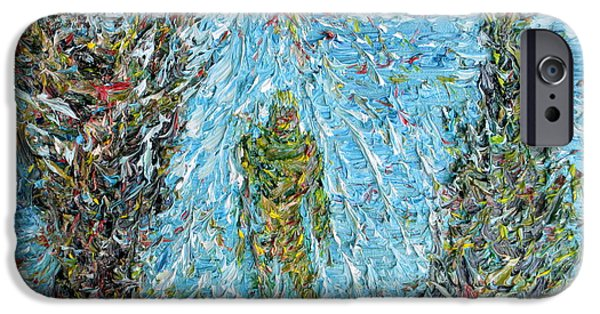 Mounds Paintings iPhone Cases - The Drama Of The Earth iPhone Case by Fabrizio Cassetta