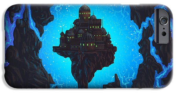 Phantasie Digital Art iPhone Cases - The Dream Fissure iPhone Case by Cassiopeia Art