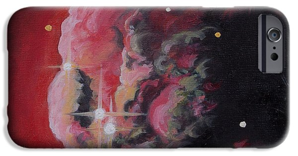 Monoceros Paintings iPhone Cases - The Dream of Monoceros Cone Nebula iPhone Case by Julie Kanapaux