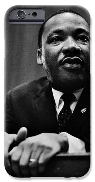 Martin Luther King Jr iPhone Cases - The Dreamer iPhone Case by Benjamin Yeager