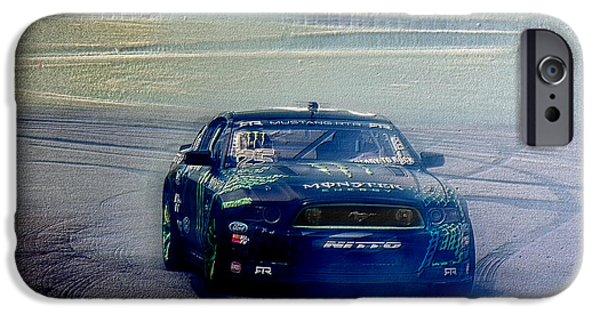 Racetrack Digital Art iPhone Cases - The Drifter  iPhone Case by Steven  Digman