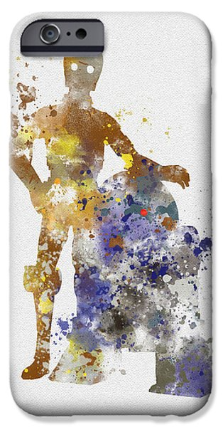 Science Mixed Media iPhone Cases - The Droids iPhone Case by Rebecca Jenkins