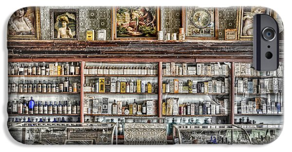 Country Store iPhone Cases - The Drug Store Counter iPhone Case by Ken Smith