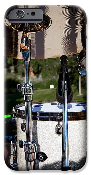 The Drum Set iPhone Case by David Patterson