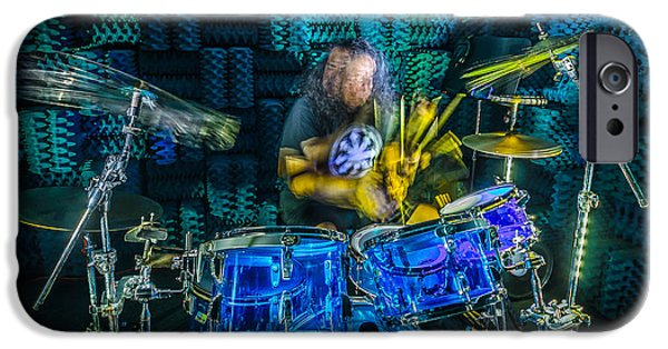 Music Photographs iPhone Cases - The Drummer iPhone Case by David Morefield
