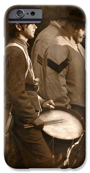 Battle Of Gettysburg Digital iPhone Cases - The Drummer iPhone Case by Lori Deiter