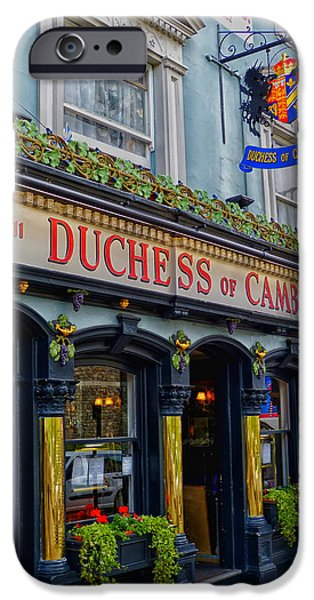 Duchess Photographs iPhone Cases - The Duchess of Cambridge Pub - Windsor England iPhone Case by Mountain Dreams