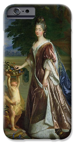 Cupid iPhone Cases - The Duchess Of Maine 1676-1753 Oil On Canvas iPhone Case by Francois de Troy