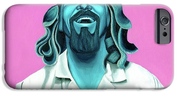 Bowling iPhone Cases - The Dude iPhone Case by Ellen Patton