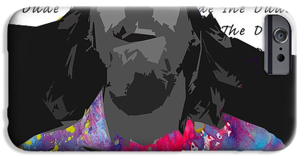 Mix Medium iPhone Cases - The Dude  iPhone Case by Jerry Cordeiro