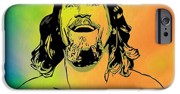 Alley Mixed Media iPhone Cases - The Dude Pop Art iPhone Case by Dan Sproul