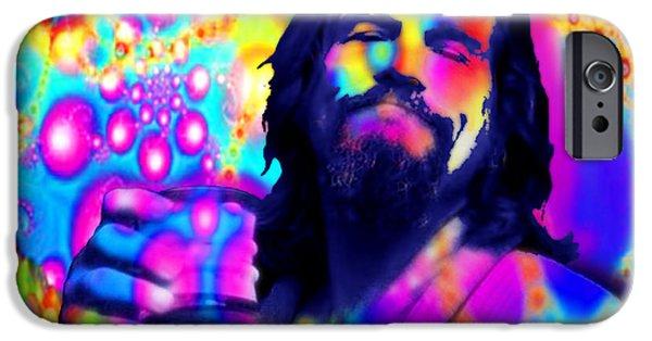 Jeff Bridges iPhone Cases - The Dude The Big Lebowski Jeff Bridges iPhone Case by Tony Rubino