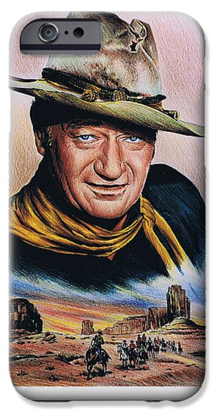 The Duke American Legend iPhone Case by Andrew Read