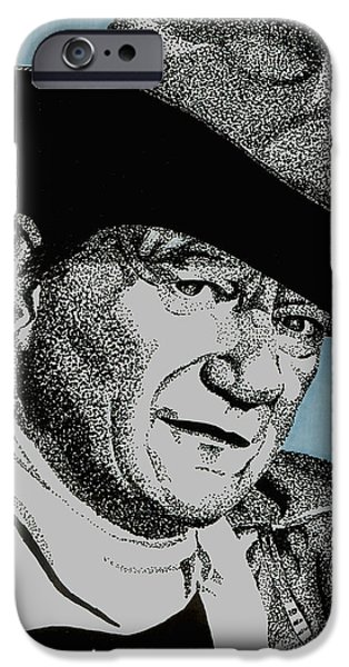 John Wayne Drawings iPhone Cases - The Duke iPhone Case by Cory Still