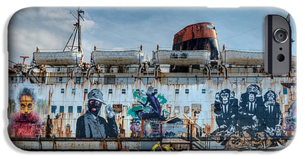 Coastline Digital Art iPhone Cases - The Duke of Graffiti iPhone Case by Adrian Evans