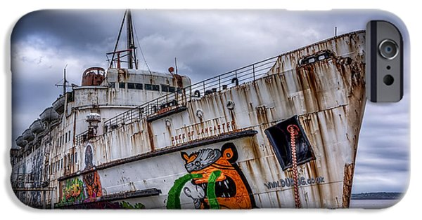 Coastline Digital Art iPhone Cases - The Duke of Lancaster iPhone Case by Adrian Evans