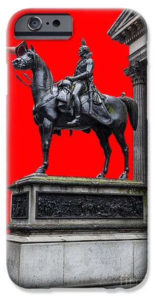 The Duke of Wellington Red iPhone Case by John Farnan