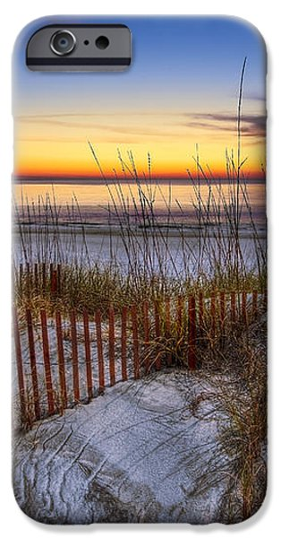 The Dunes at Sunset iPhone Case by Debra and Dave Vanderlaan