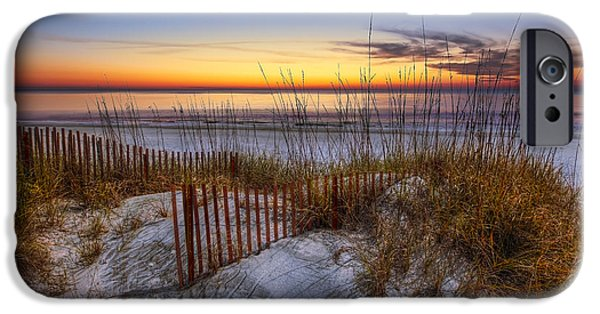Ga iPhone Cases - The Dunes at Sunset iPhone Case by Debra and Dave Vanderlaan