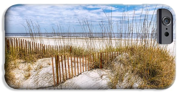 Ga iPhone Cases - The Dunes iPhone Case by Debra and Dave Vanderlaan