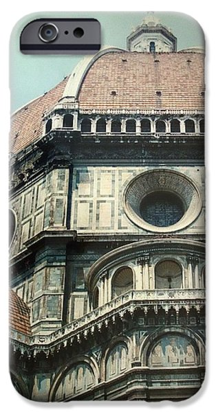 The Duomo In Florence iPhone Cases - The Duomo Firenze iPhone Case by Melinda Saminski