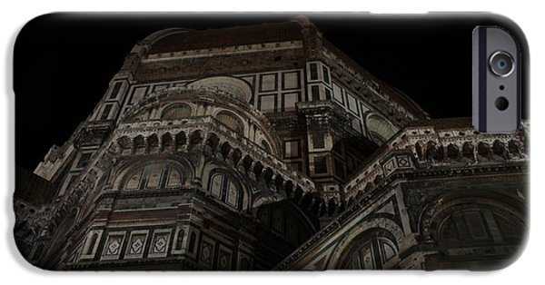 The Duomo In Florence iPhone Cases - The Duomo in the Dark iPhone Case by Kitrina Arbuckle