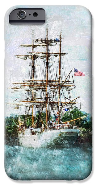 Tall Ship iPhone Cases - The Eagle Has Landed I iPhone Case by Marianne Campolongo