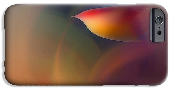 Poetic iPhone Cases - The Early Bird-Abstract Art iPhone Case by Karin Kuhlmann